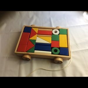 IKEA pull behind wooden shapes wagon